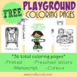 FREE Playground Coloring Pages