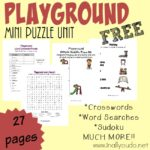 FREE Playground Puzzles & Activities Pack