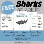 Shark Mini Puzzle Unit + Tot & PreK-K Pack