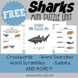 Sharks Puzzles & Activities