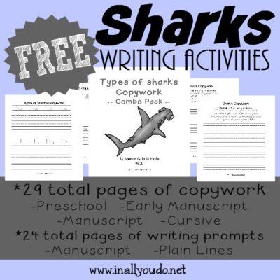 Shark Writing Prompts & Copywork