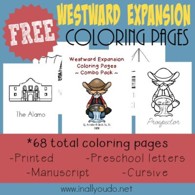 Westward Expansion Coloring Pages