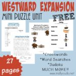 FREE Westward Expansion Puzzles & Activities