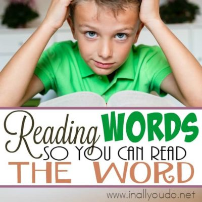 Reading Words, so you can read THE Word