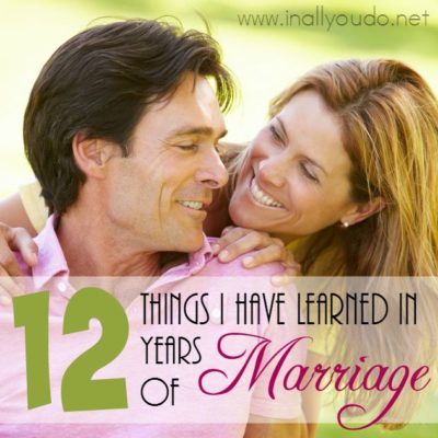 12 Things I have learned in 12 years of Marriage