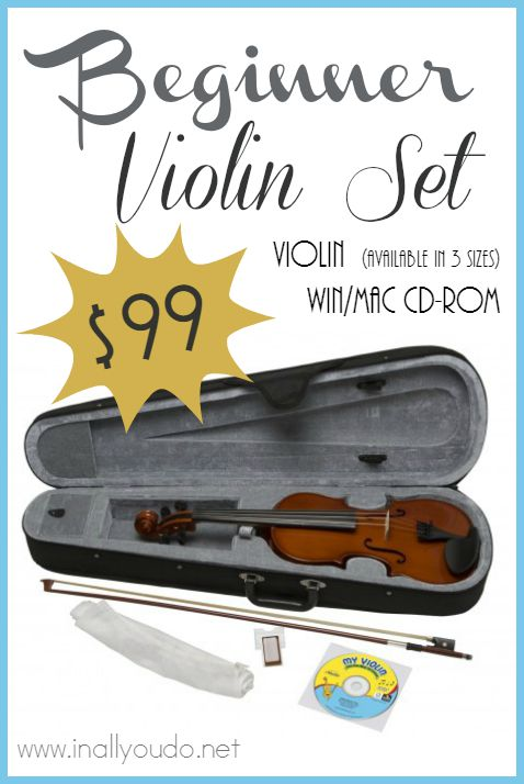 Starting Music at a young age is important to a child's learning development. Grab this Beginner Violin Set for just $99!!! OFFER ENDS 9/2/15!! :: www.inallyoudo.net
