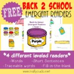 Back-to-School Emergent Readers