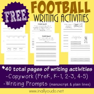 Football Writing Activities Pack