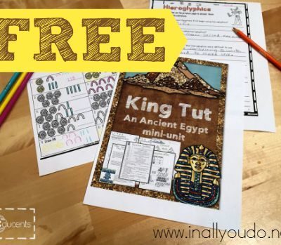 FREE King Tut & Ancient Egypt Mini-Unit
