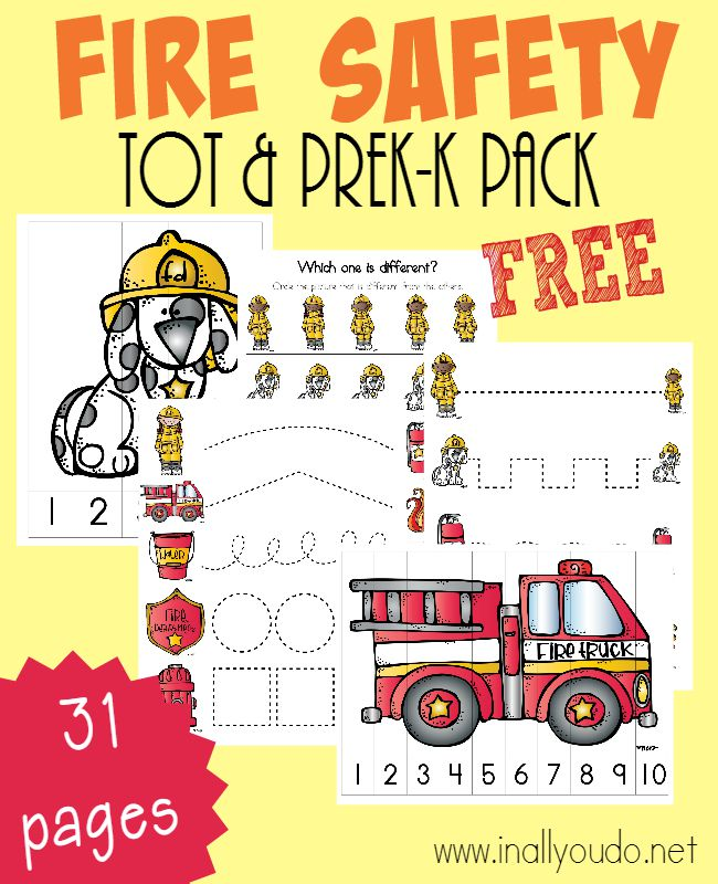 Fire Safety is important ALL Year Long. Little ones need to know the dangers too! These fun Emergent Readers & Tot/PreK-K Pack will do just that! :: www.inallyoudo.net