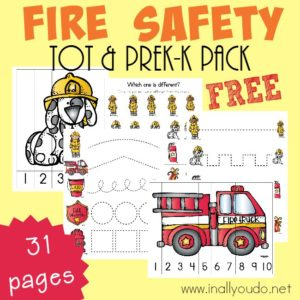 Fire Safety Tot & PreK-K Pack