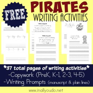 Pirate Writing Activities