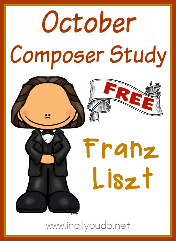 Adding music to your homeschool day doesn't have to be difficult. Use this simple Composer Unit Study on Franz Liszt to study just one composer in the month of October! {free printables} :: www.inallyoudo.net