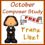 October Composer Unit Study: Franz Liszt {free printables}