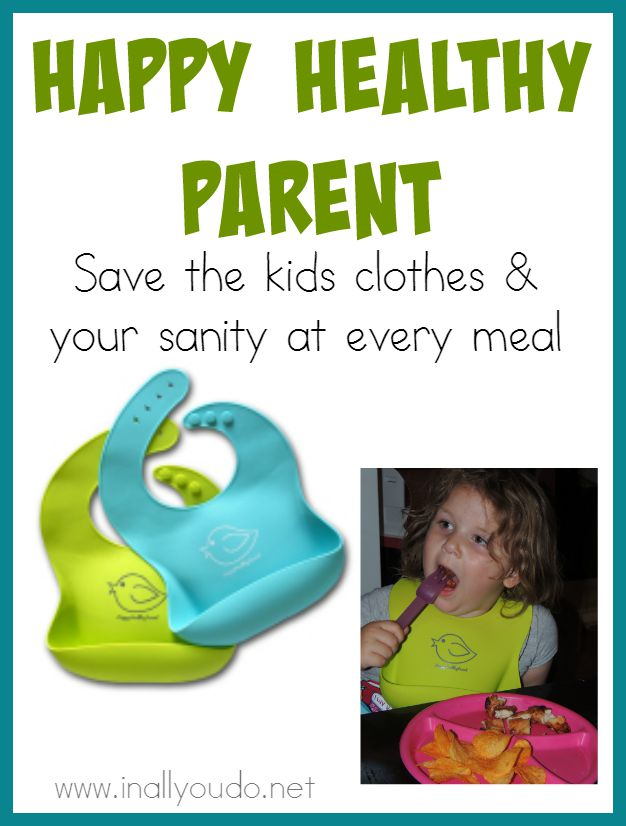Every parent wants meal time to be less messy. Now it can be with the Happy Healthy Parent Silicone Bibs! Easily adjustable to fit most sizes! :: www.inallyoudo.net