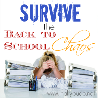 Survive the Back to School Chaos