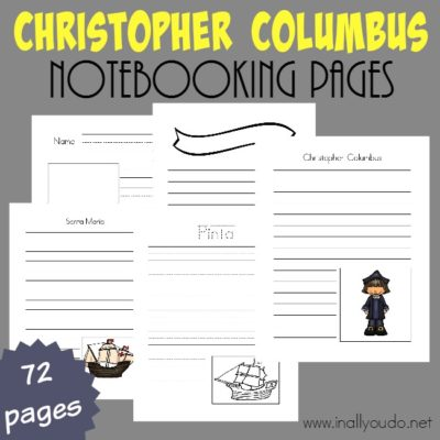 FREE Christopher Columbus Notebooking Pages