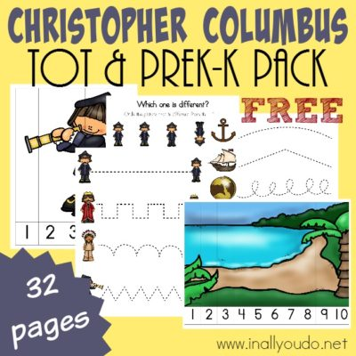 Christopher Columbus Tot & PreK-K Pack {NEW Subscriber Freebie}