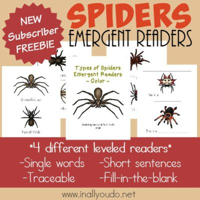 Spiders Emergent Readers
