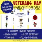 Veterans Day Emergent Readers