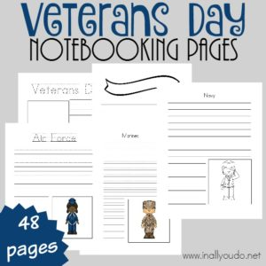 Veterans Day Notebooking Pages