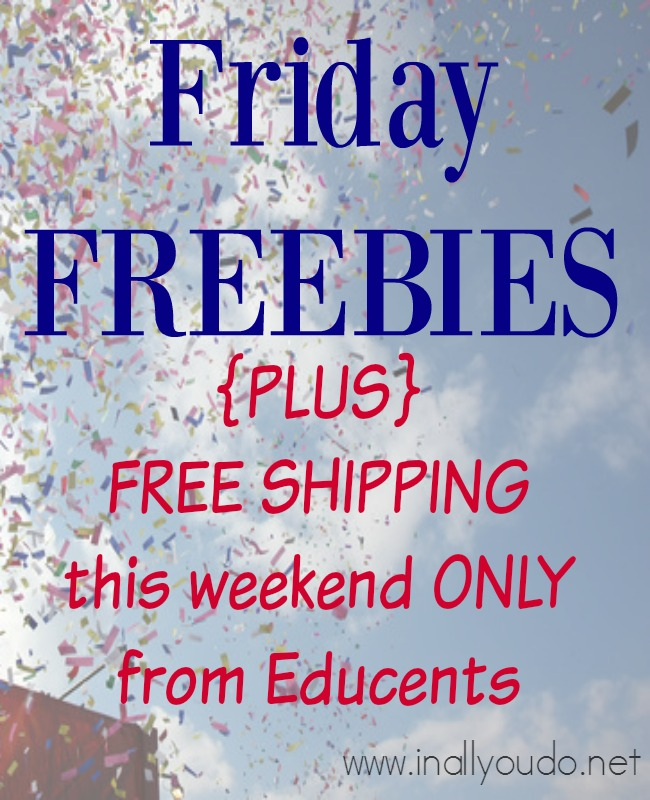 Start & Finish your Christmas shopping early this year with FREE SHIPPING from Educents!! Valid thru 10/19/15 ONLY!! Don't miss all the FREE downloads too! :: www.inallyoudo.net