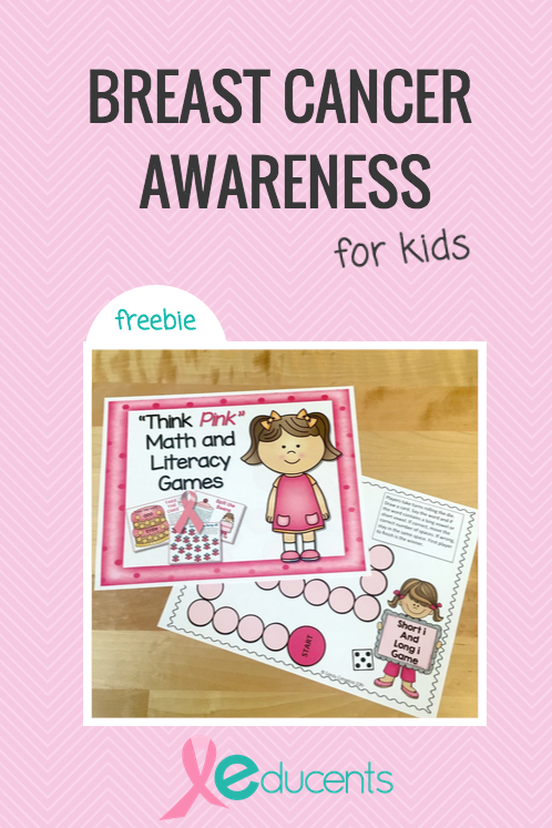 October is Breast Cancer Awareness Month. Its not something anyone wants to think about, yet it is everywhere and kids need to know and understand what it is. Check out these great resources and FREEBIE to help! :: www.inallyoudo.net