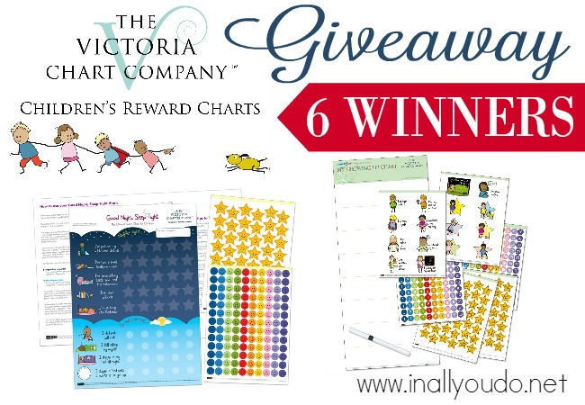 ENTER for your chance to win one of SIX charts from The Victoria Chart Company! See why these charts changed our family and saved my sleep & sanity! ENDS 11/4/15!! :: www.inallyoudo.net