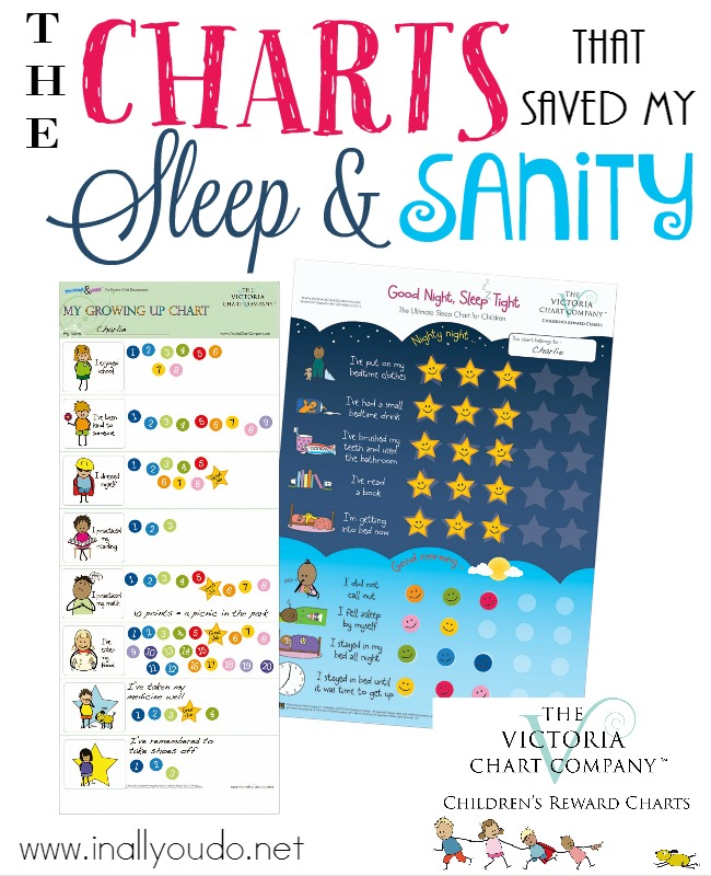 Are you sleep-deprived? Is your sanity in question at the end of the day? Check out these charts from Victoria Chart Company and get back your life and help your kids too! :: www.inallyoudo.net