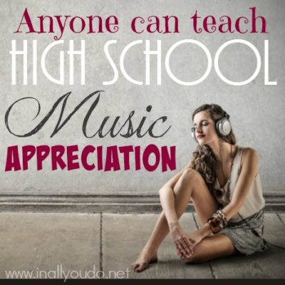 Anyone can teach High School Music Appreciation