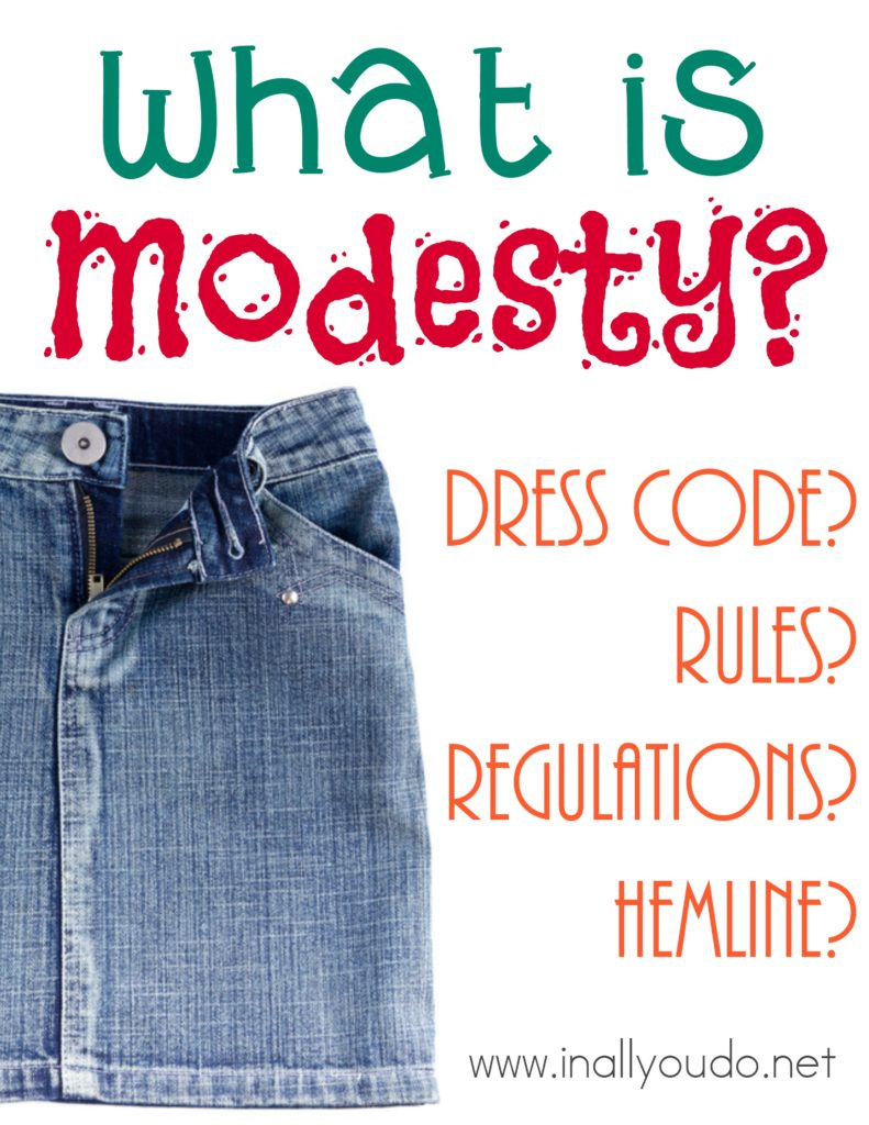 What is Modesty? A set of rules and regulations? Long skirts? Find out my thoughts and how to decide for yourself what modesty is. :: www.inallyoudo.net
