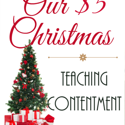 Our $5 Christmas: Teaching Contentment
