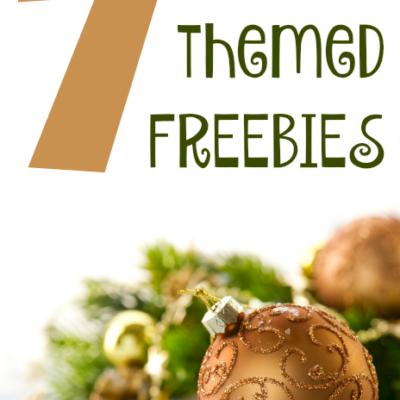 7 Holiday Themed FREEBIES