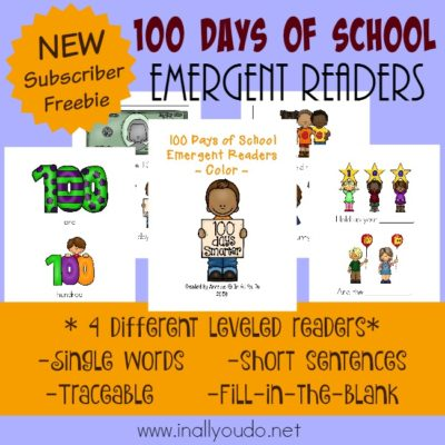 100 Days of School Emergent Readers