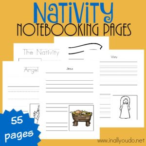 Nativity Notebooking Pages