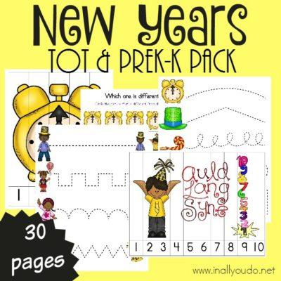 New Years Tot & PreK-K Pack