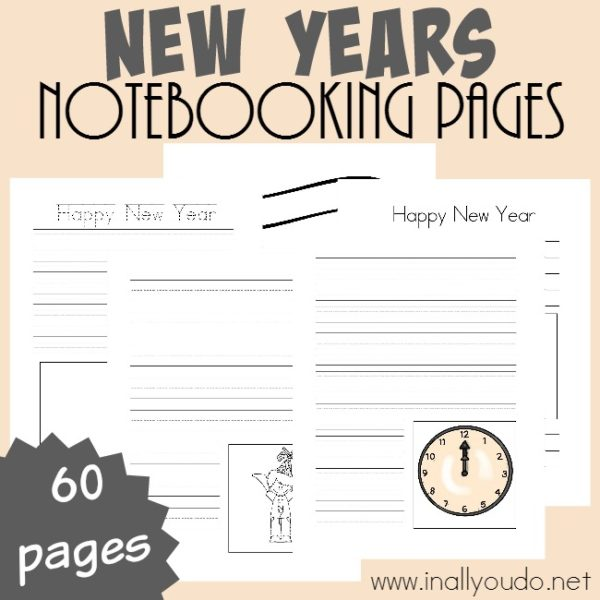 Happy New Year...almost! Let kids record their memories, hopes, dreams and anything they want about the new year with these Notebooking Pages! Over 55 pages to use how you like! :: www.inallyoudo.net
