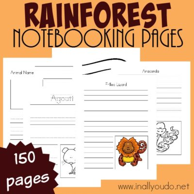 Rainforest Notebooking Pages {150 pages}
