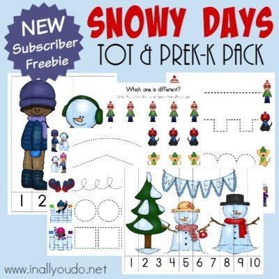 Snowy Days Tot & PreK-K Pack