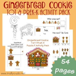 Gingerbread Tot & PreK-K Activity Pack