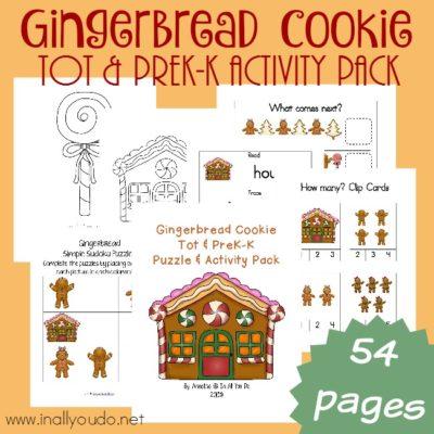 Gingerbread Tot & PreK-K Activity Pack