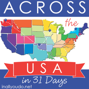Travel across the USA in just 31 Days with these FREE printables! Every day in January (2016) a new printable will be released ! Be sure you're signed up for our weekly newsletter so you don't miss a single one! :: www.inallyoudo.net