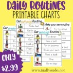 Daily Routines Printable Charts