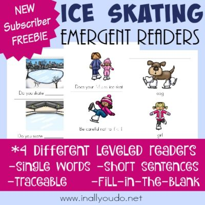 Ice Skating Emergent Readers