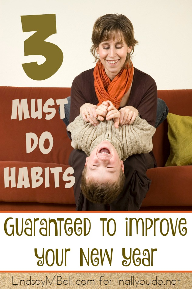 Do you fail at new years resolutions? Try making new habits that you can do and make stick this year. Here are 3 to get you started! :: www.inallyoudo.net