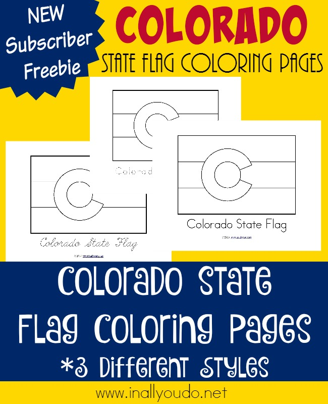 Learn more about the 38th state of Colorado and its flag in today's post. Color the flag as you read or listen along. {free printables} :: www.inallyoudo.net