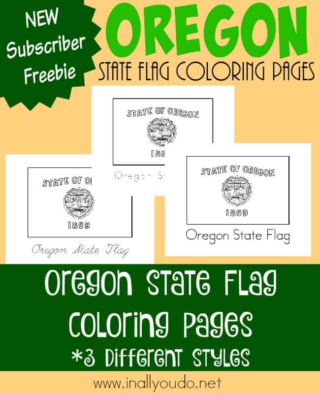 Today you can download and learn about the unique state flag of Oregon - the only state flag with two different sides. {free printables} :: www.inallyoudo.net