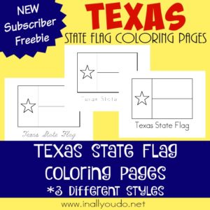Today you can read about the state flag of the second largest state in the Union - Texas - and color the state flag. {free printables} :: www.inallyoudo.net