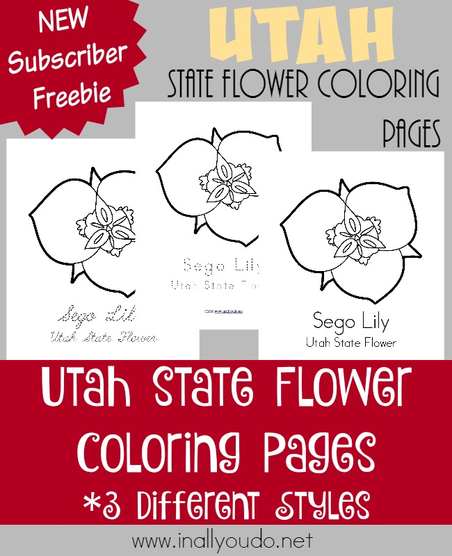 Utah's state flower has a rich, unique history and was chosen by an unlikely group. Learn more about it and color these FREE pages as you read! :: www.inallyoudo.net