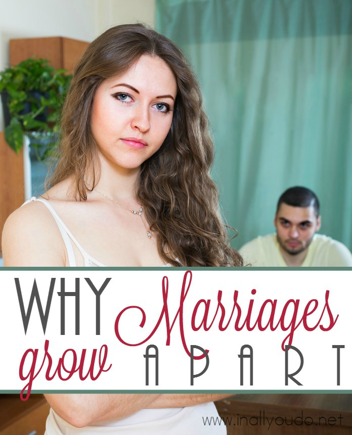 "We've all heard the saying, ""We just grew apart."" Over time it happens, so how can you protect your own marriage from this rising trend? :: www.inallyoudo.net"